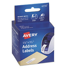 Avery Thermal Printer Labels Address 1 1/8 x 3 1/2 White 260 Labels/Box 4150