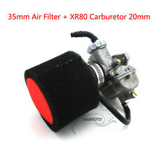 35mm Foam Air Filter Carb Carburetor For For Honda XR80 XR80R Dirt Pit Bike