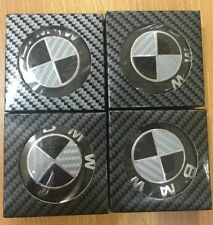 4pcs high quality Carbon Fiber 68mm Hub Center Caps Wheel Emblem Logo FOR