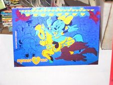 1992 1993 SKYBOX MINNIE N ME DOUBLE SIDED PINK hologram insert card! carousel!