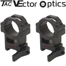 Vector Optics Tactical 30mm Quick Release Rifle Scope Picatinny QD Mount Rings