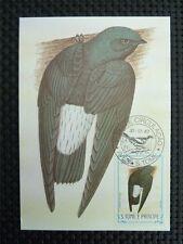 S. TOME MK VOGEL VÖGEL BIRD BIRDS MAXIMUMKARTE CARTE MAXIMUM CARD MC CM c718