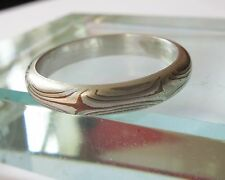 SALES!!! Mokume Ring with Sterling silver liner in Size 5