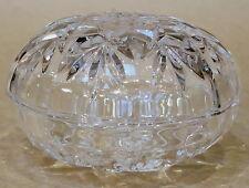 LOVELY VINTAGE PRESSED GLASS LIDDED TRINKET BOX