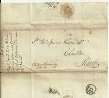 1781 PENNY POST PAID LONDON GENERAL OFFICE? TO SPENCER WILSON AT CHARLTON + CADE