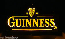 "LD043 Guinness Beer bar pub shop decor Display LED Light 3D Acrylic Sign 12""x7"""