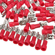 """100Pcs 22~16AWG Female Insulated Disconnect Wire Crimp Terminals Connector 0.25"""""""