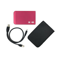 "120Gb 2.5"" USB 2.0 External Portable Hard Drive HDD For MAC Laptop PC TV Red"