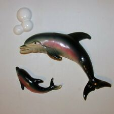 Vintage Dolphin Porpoise Family Wall Plaque to g/w your Mermaids & Fish