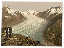 Eggishorn Grand Aletsch Glacier Valais Alps Of A4 Photo Print