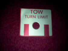 TURN TOW LIMIT PLACARD FOR AIRCRAFT