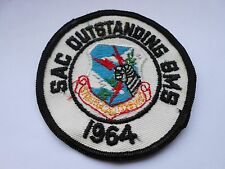 vintage patch of the strategic air command   1964 sac outstanding bmb