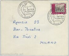 59652 - Italia REPUBBLICA - STORIA POSTALE: annullo CALCIO 1971 FOOTBALL - INTER