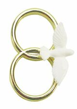 DOUBLE GOLD WEDDING RINGS WITH DOVE CAKE DECORATION/TOPPERS FOOD SAFE