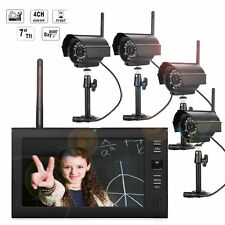 2.4GHz Wireless 4CH Outdoor Indoor Security CCTV Camera System DVR CCTV IR-Cut