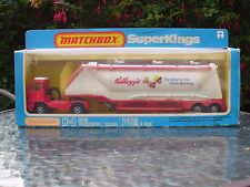 Matchbox Superkings K-3 Kellogg's Grain Transporter 1981 OOP