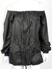 JEAN PAUL GAULTIER Forest Green Cotton Off-the-Shoulder Jacket 44