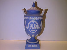 Wedgwood Pale Blue Solid Jasper Ware Royal Wedding Vase - 1981 - Original Box