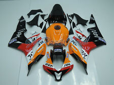 Fit for Honda 2007-2008 CBR600RR Orange Injection Bodywork Fairing Plastic jB3