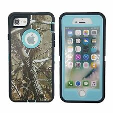 Protective Hybrid Defender Shockproof Camo Hard Case For Apple iPhone 7 7 Plus