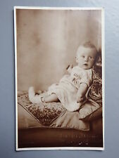 R&L Postcard: British Baby Portrait, 1930's Clothing, Raphael Studio, Leigh
