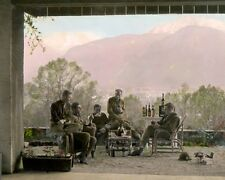 "EASY COMPANY 101st AIRBORNE at BERCHTESGARTEN WWII 8x10"" HAND COLOR TINTED PHOTO"