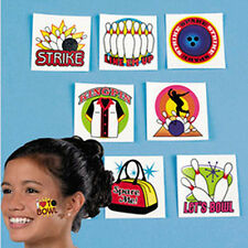 2 PACKS of Bowling TATTOOS-14 TATTOOS TOTAL Great KIDS Bowling Party GIFT!
