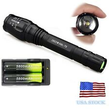 From USA Tactical 5000 Lumen 5 Modes CREE XML T6 LED Flashlight 18650+Charger