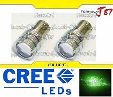 CREE LED Miniature 5W 1157 S25 BAY15d Green Two Bulbs Replacement Light Upgrade