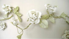 Rose Garland Crema Flor Boda Shabby Chic 6FT