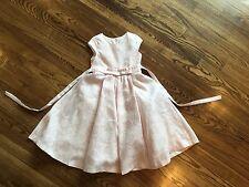 Isobella And Chloe 6x Light Pink Fancy Shimmery Dress Modest
