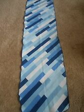 Vintage Shades Of Blue Rectangle Neck Head Scarf 10x44
