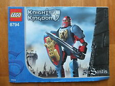 LEGO NOTICE KNIGHTS KINGDOM SIR SANTIS 8794