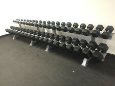 SPARTAN  5-100 LBS HEX RUBBER DUMBBELL SET  (NEW IN BOX)
