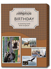Wild and Free - Assorted Box of 12 Christian Birthday Cards