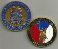 US Embassy Prague Regional Security Office Czech Republic Challenge Coin