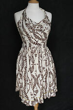 Vivienne Westwood Red Label Rope Print Backless Halter Dress UK 8