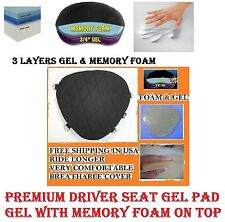 Motorcycle Driver Seat Gel Pad for Harley Davidson Fat Boy Memory Foam & Gel New