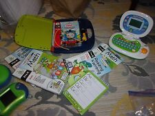LEAPFROG LOT- LEAPSTER AND CARTRIDGES, LEAPPAD AND BOOKS,LEAPTOP COMPUTER,DVD