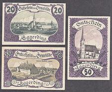 Eggerding (OÖ) -Gemeinde- 20 H, 30 H und 50 Heller violett (JP 166 c)