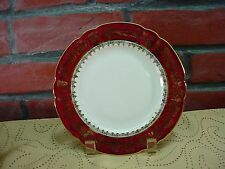"Authentique LIMOGES France CHADELAUD Porcelaine Antique Red 9"" DINNER PLATE Wow!"