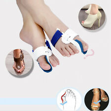 2pc Big Toe Straightener&Bunion Hallux Valgus Corrector Night Splint Pain Relief