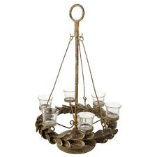 """CANDLE HOLDER 24"""" VOTIVE DISTRESSED X3632216 Raz Christmas TABLETOP Hanging NEW"""