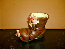 Yankee Candle   Christmas 'Stirring' Mice   Hidden in Boot  Tealight Holder  NEW