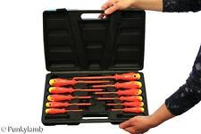 11 pc Kit de herramientas electricistas Destornillador Set Eléctrico completamente aislado con Estuche