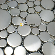 big and small round stainless steel mosaic tiles for kitchen backsplash