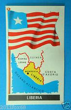 figurines stickers picture cards figurine bandiere del mondo folgore 59 liberia