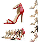 Fashion Womens Sexy Stilettos High Heels Ankle Strap Buckle Lady's Shoes Sandals