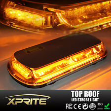 Amber 44 LED Light Mini Bar Roof Top Emergency Warning Flash Strobe Light 44W