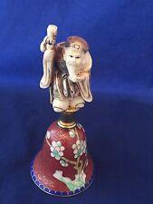 Netuske Cloisonne Bell JUROJIN god Of Longevity VTG Good Fortune Hammond Museum